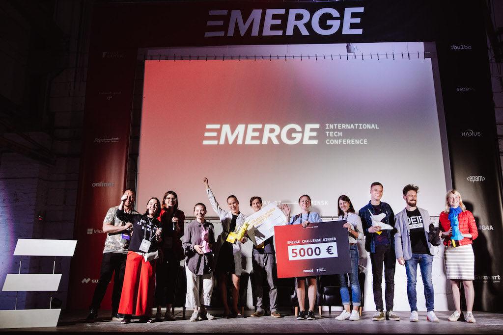 Startup award at EMERGE in Minsk