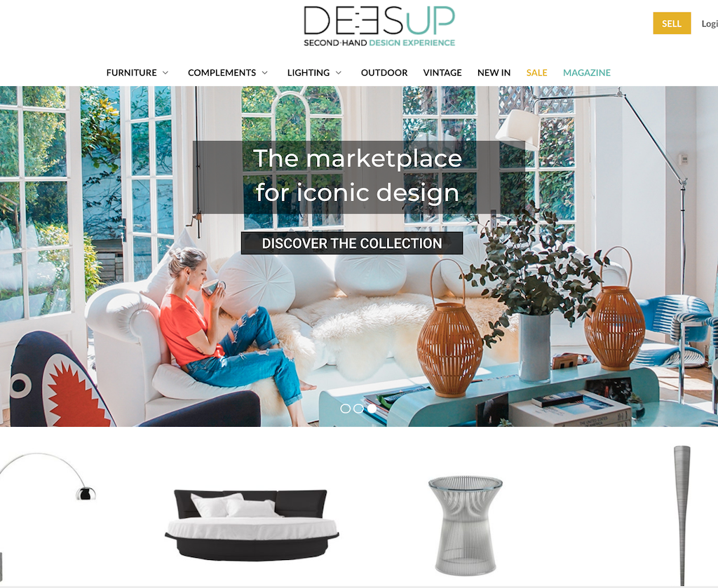 Startup Deesup, marketplace of second-hand Design