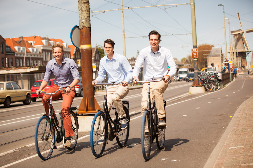 Dutch Scale-up Swapfiets founders: Van L naar R Dirk de Bruijn, Martijn Obers & Richard Burger