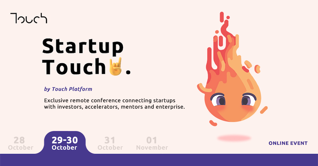 Startup Touch remote conference on 29-30 October 2020