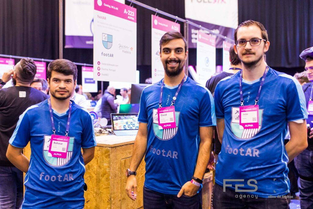 Startup FootAR at Web Summit 2019