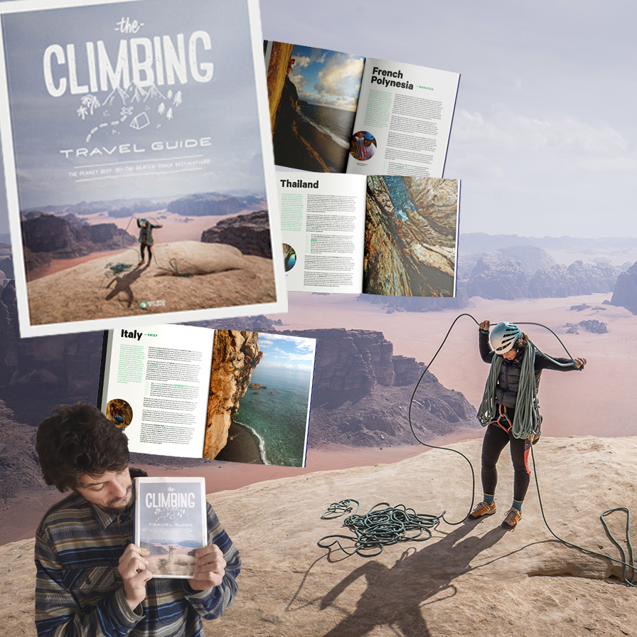 Daniele Calvo Pollino, CEO and co-founder of Mapo Tapo, with The Climbing Travel Guide_2