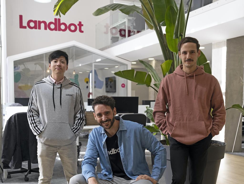 Landbot Cofounders, Jiaqi, Fernando, Cristobal