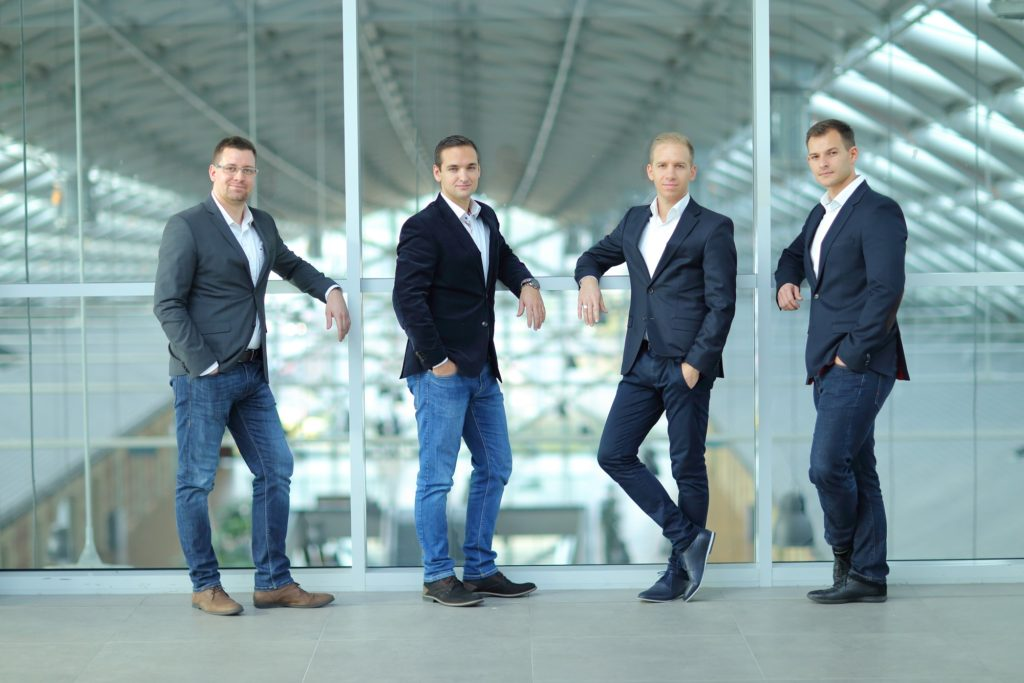 AerinX co-founders (from left to right) Imre Hanyecz (Chief Communication Officer), Laszlo Gonda (CFO), Zoltán Wéber (CTO), Bence Kiss (CEO)